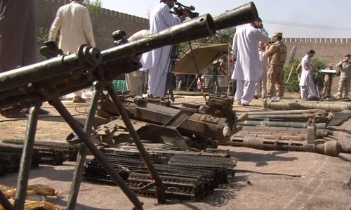 Forces seize huge cache of foreign weapons in Khyber Agency