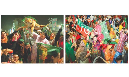 Parties cap campaigns for NA-122 with big rallies