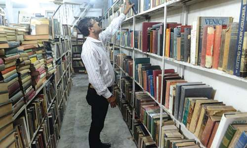 A rare bookshop in Lahore that hardly entails proper signboard