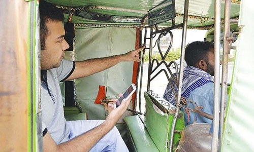 Uber-like service for rickshaws in Lahore