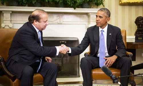 Nawaz meets Obama at White House