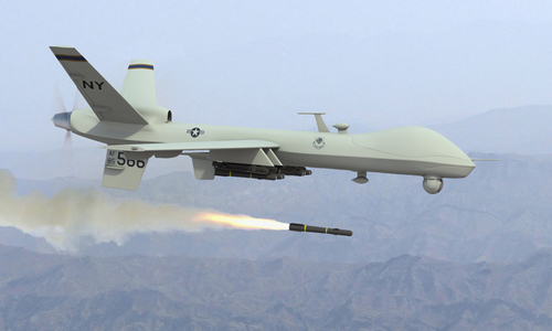 US drone strikes kill 16 'IS militants' near Pak-Afghan border