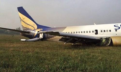 10 injured as Shaheen Air flight crash lands