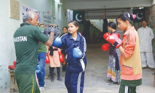 First-ever women's boxing camp in full swing