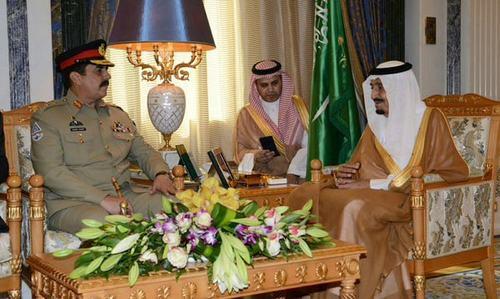 Saudi king meets Gen Raheel, vows to help eliminate terrorism
