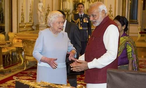 Modi's day out: Indian PM meets Queen Elizabeth