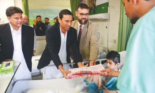 Younis Khan begins new innings with Indus Hospital