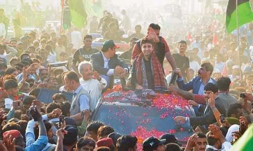 Bilawal hits back at Imran in Badin rally