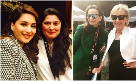 What are Sharmeen Obaid and Sherry Rehman doing at the Women In The World Summit?
