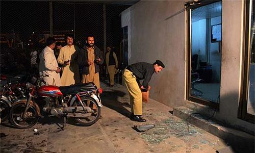 Three injured in grenade attack on Dunya TV office in Faisalabad