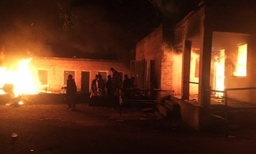 Ahmadi place of worship set ablaze in Jhelum, riots erupt after blasphemy allegations