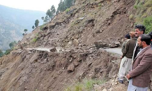 Landslide damages 50 houses near Abbottabad