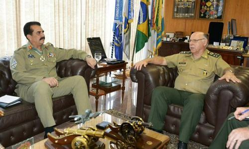 Brazil army chief hails Pak army's achievements in meeting with Gen Raheel