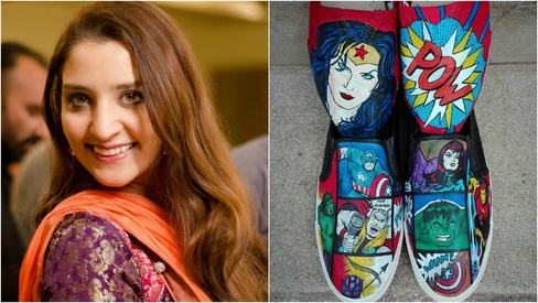 Penguin pop: A woman's passion to paint, one shoe at a time