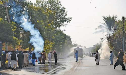 Protesting teachers tear-gassed, baton-charged in Karachi