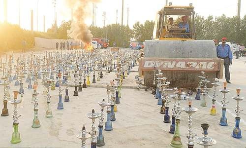 Shisha, tobacco seized in DHA destroyed