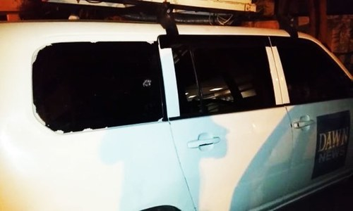 DawnNews DSNG van attacked in Karachi