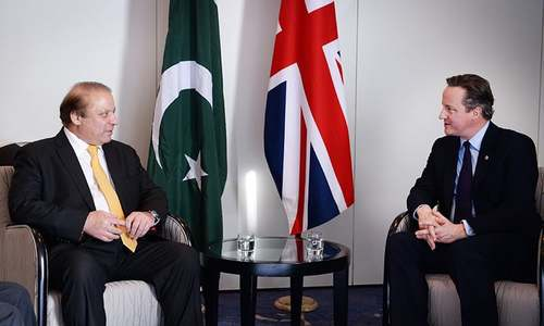 Sharif, Cameron to work together for security, prosperity
