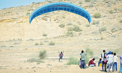 Cool winds attract enthusiasts to adventure sports