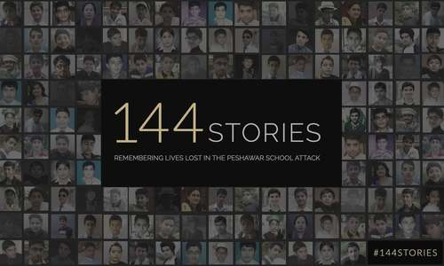 144stories: Remembering lives lost in the Peshawar school attack