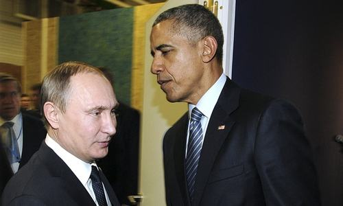 Obama, Putin discuss Syrian crisis, Russian jet's downing dispute