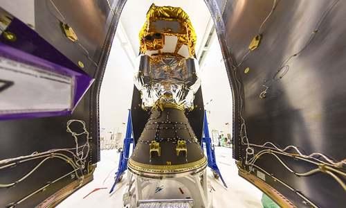 Vega rocket blasts off with gravity-hunting satellite