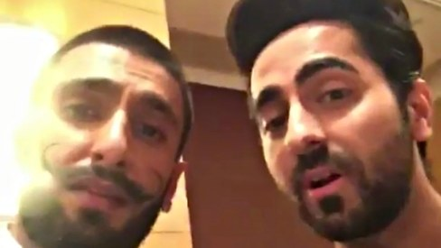 Ranveer Singh & Ayushmann Khurrana made the funniest Dubsmash for Arjun Kapoor