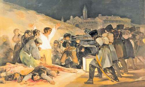 the third of may 1808 by Francisco de goya, spain the third of may, 1808 1814 oil on canvas 266 x 345  cm museo del prado   this.