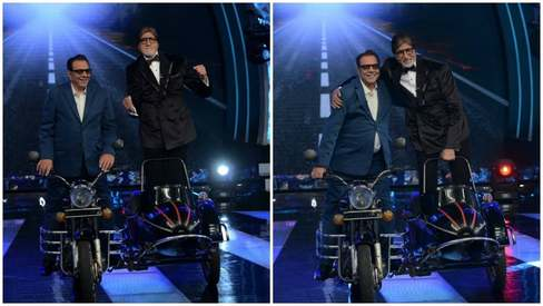 Never getting old: Amitabh and Dharmendra recreate Veeru and Jai from Sholay