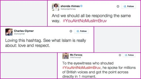 #YouAintNoMuslimBruv - Tweeters express solidarity with Muslims post knifing incident