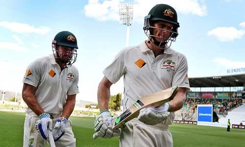 Triple-century stand as Aussies pound Windies