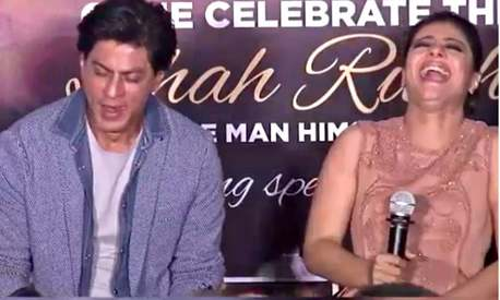Kajol embarrasses SRK at Dilwale promo and it's adorable!