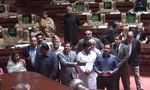 Ruckus in Sindh Assembly over Rangers' powers extension