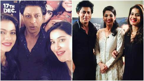 Dilwale: Shaista Lodhi, Sanam Jung schmooze with Shahrukh Khan and Kajol in Dubai