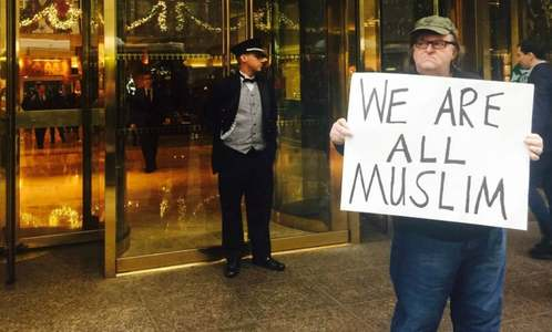 Michael Moore launches #WeAreAllMuslim campaign to counter Trump's call for Muslim ban