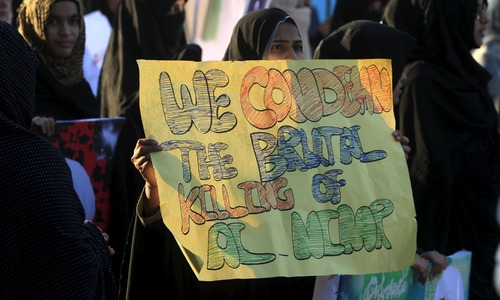 Shia protesters oppose Pakistan's involvement in Saudi-led coalition