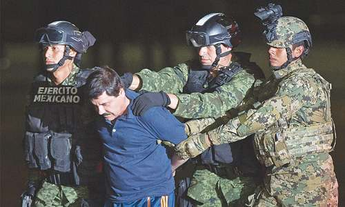 Mexican drug lord returns to infamous prison after arrest