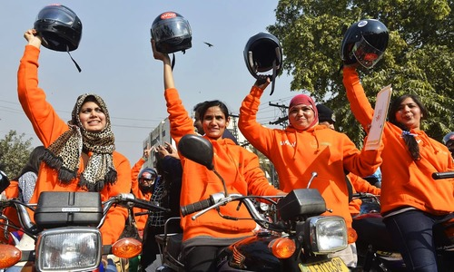 Women bikers in Lahore hit road