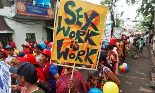 Calls to protect sex workers as Mumbai's red-light industry goes underground