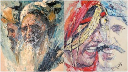 Impressionist artist Nusratji displays oil paintings at biography launch