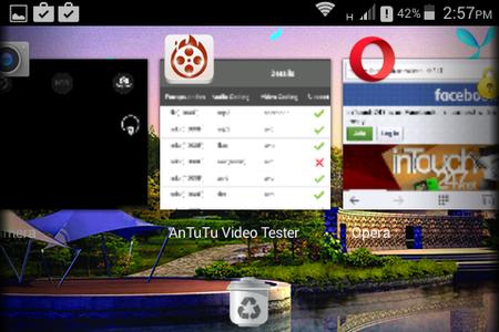 Tip: Use built-in task killer app in the app switching drawer.