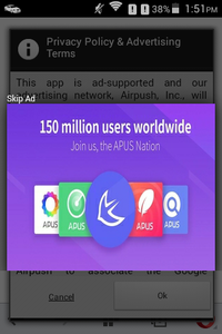 Adware is built in with apps in the phone.