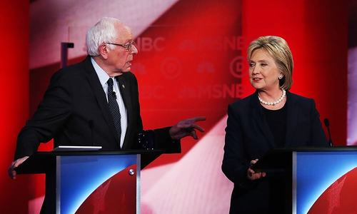 Clinton goes on the attack against surging Sanders