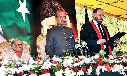 Sardar Mehtab Khan steps down as KP governor