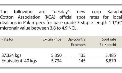 Cotton price drops
