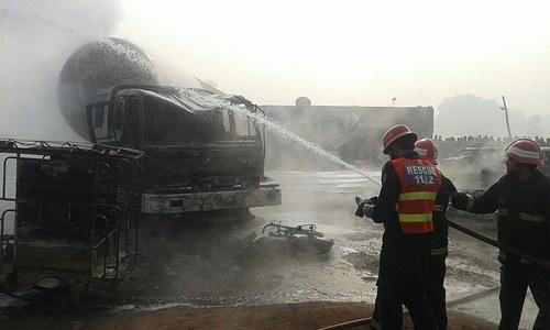 At least 12 dead, 20 injured in tanker collision near Nankana Sahib