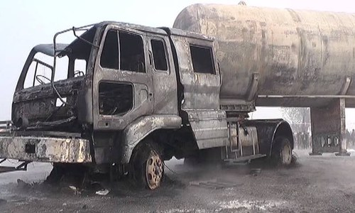 Six children among 12 dead in tanker collision near Nankana Sahib