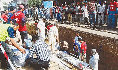 Two labourers die working on bus project