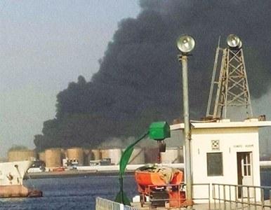 Fire erupts in oil terminal