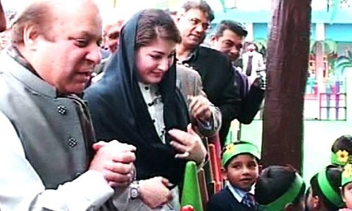ABCs and geography: Nawaz plays teacher to students at revamped govt school in Islamabad